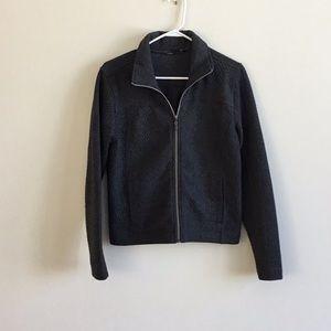 Grey textured Prana lightweight jacket